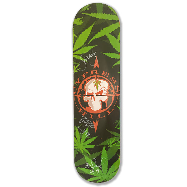 "Cypress Hill ""Skull & Compass"" RARE LIMITED EDITION Autographed Skateboard Deck"