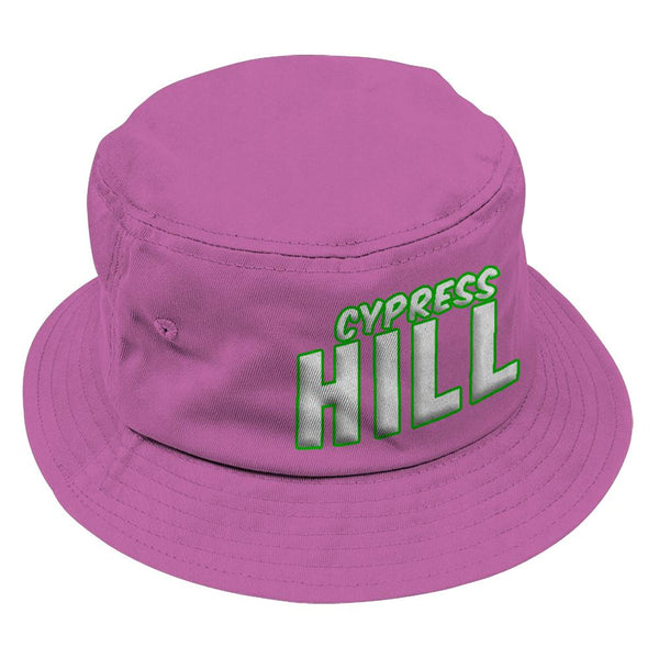 "Cypress Hill ""Block Logo"" Bucket Hat in Pink"