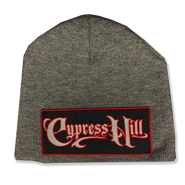 "Cypress Hill ""Script Logo"" Beanie in Heather Grey"