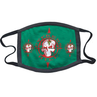 "Cypress Hill ""Skull & Compass"" Reusable and Washable Anti-Germ and Pollution Mask Cover in Green"