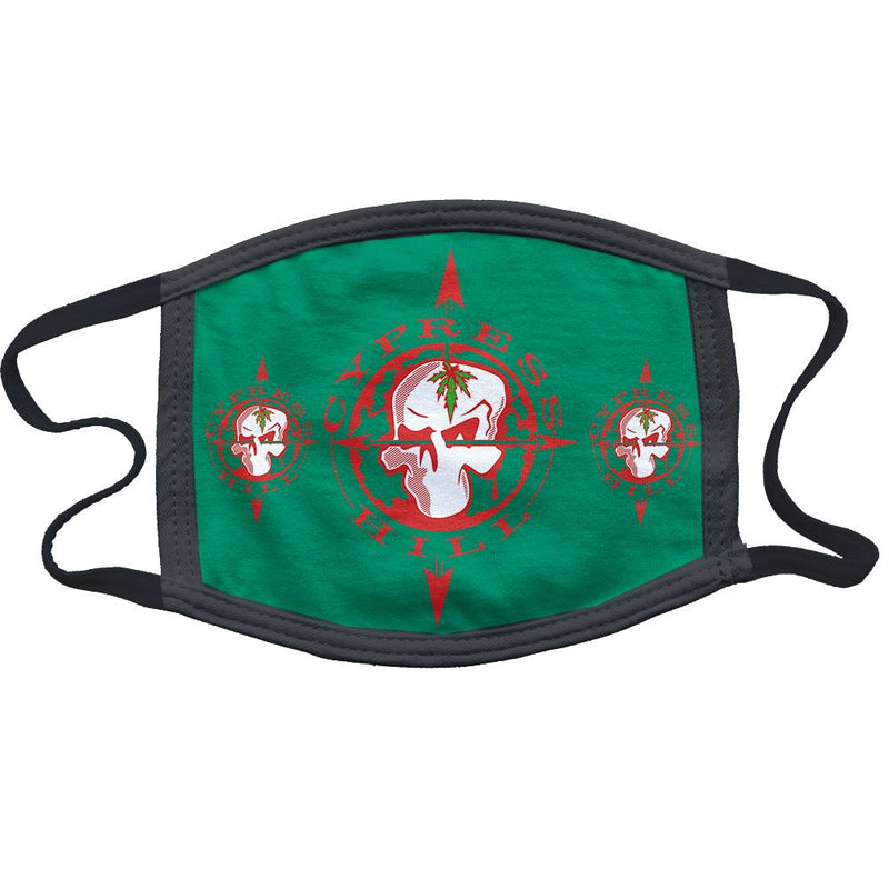 "Cypress Hill ""Skull & Compass"" mask in Green"