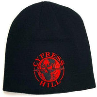 "Cypress Hill ""Skull and Compass"" Black Beanie"