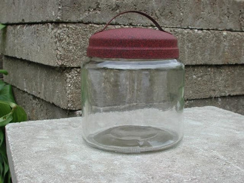 16oz Apothecary Jar with Rustic Handle Lid - candle-cocoon