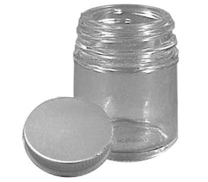 1oz Jar with Silver Lug Lid