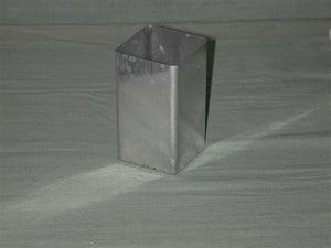 Square Aluminum Mold - candle-cocoon