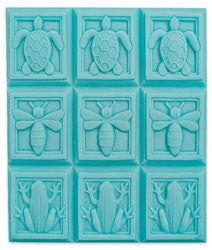 Art Deco - Turtle, Bee, Frog - 9 Cavity