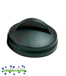 Black Lid with Handle for Apothecary Jars