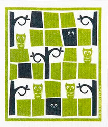 Wash Towel - Owls with Spooky Trees