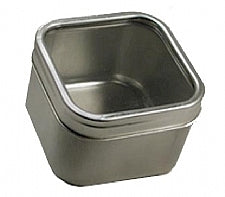 Square Tins (Large) with Clear Lid