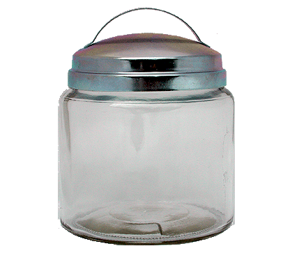 16oz Apothecary Jar with Zinc Handle Lid