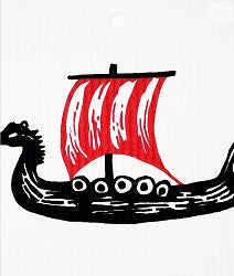 AS - Wash Towel - Viking Ship*