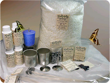Candle Making Supplies, wax, wicks, molds, fragrance oils, Wick pins, dye diamonds