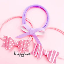 Load image into Gallery viewer, Newborn Headbands Set 3pcs (7colors available)