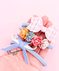 Newborn Headbands Set 3pcs (7colors available)