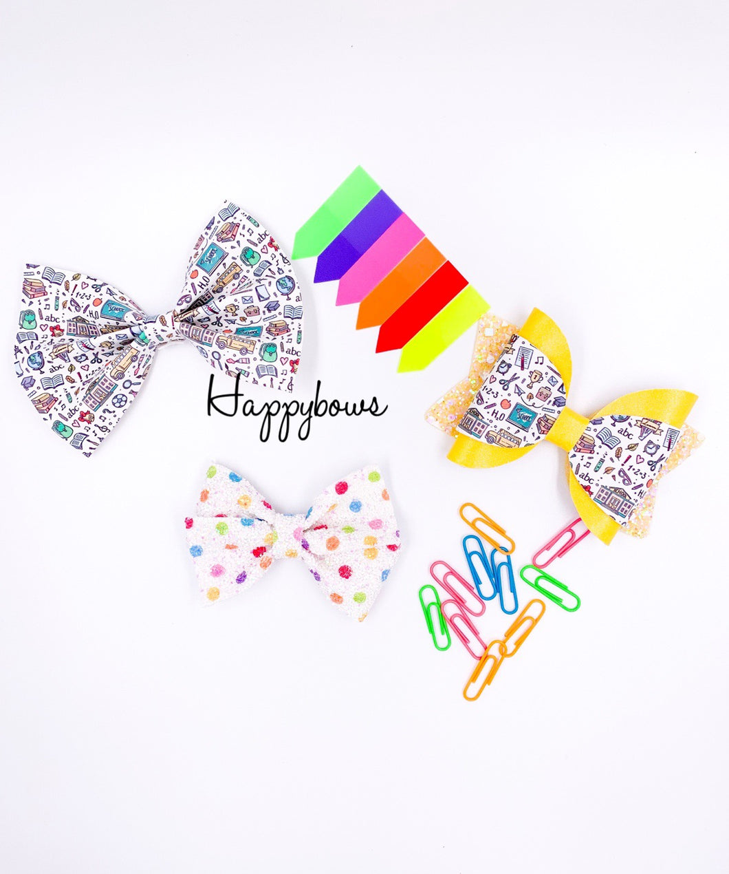 Back to School bows