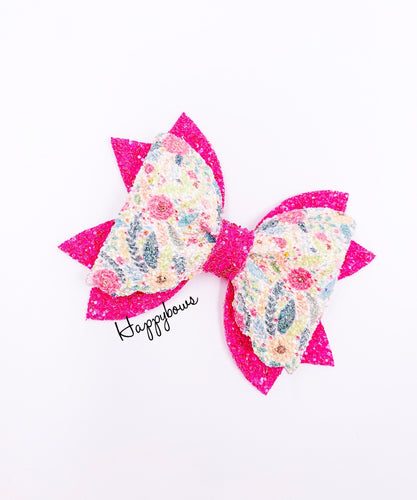 Bright flowers bow