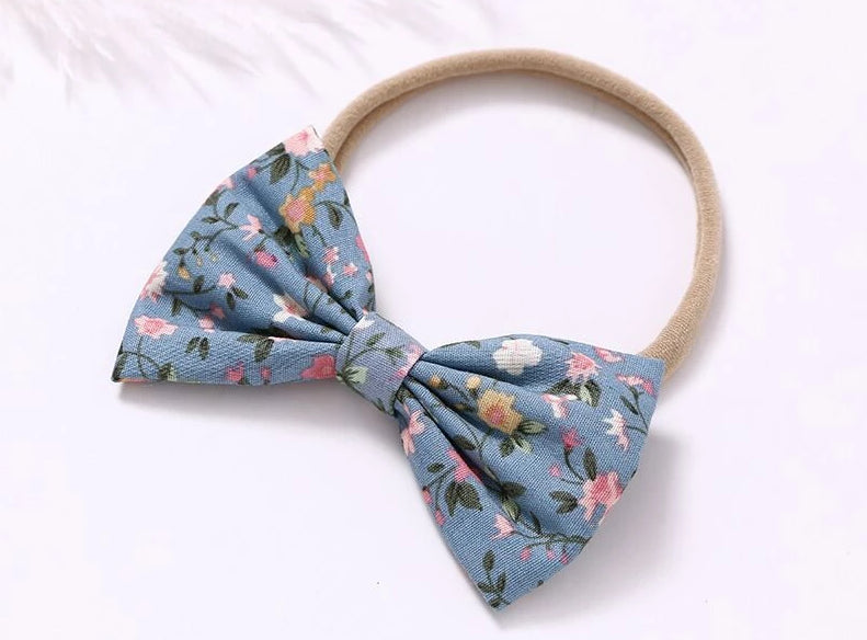 Cotton Nylon Print Flower Headband