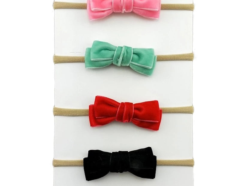Small Velvet Kids Hair Bows