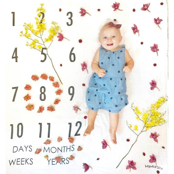 BATZkids - Months Days Years Milestone Blanket