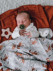 The Swaddle Company - Foxen  - Organic Swaddle - Sustainable Nursery Decor