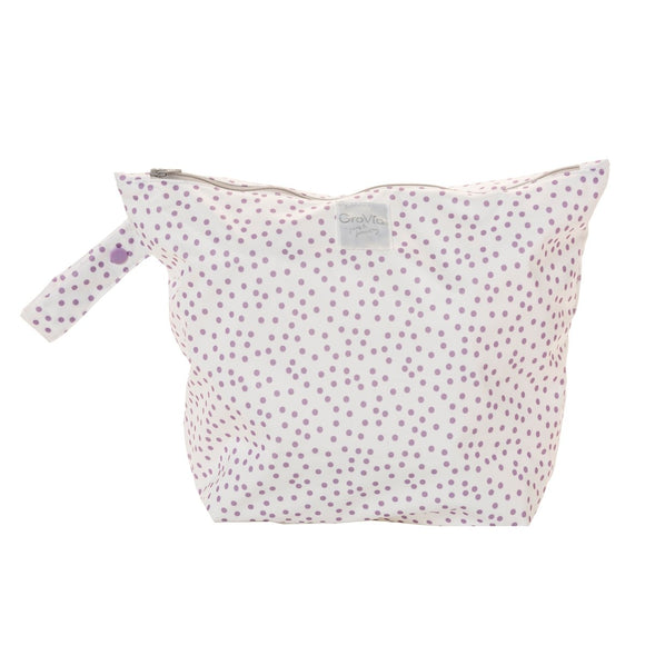 GroVia - Zippered Wetbag - Violet Dot