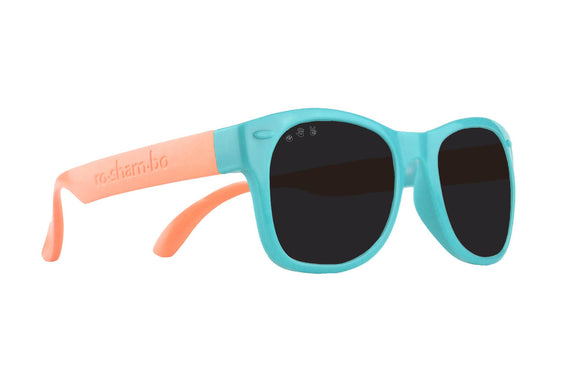 Roshambo Baby - Fraggle Rock Teal & Coral Sunglasses - Polarized