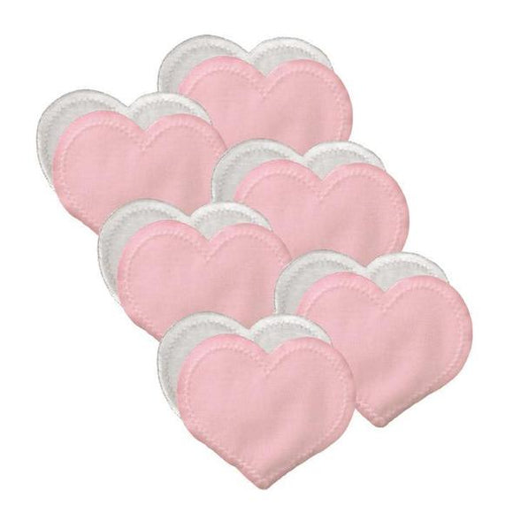 Bamboobies - regular nursing pads: | light pink - 6 pairs