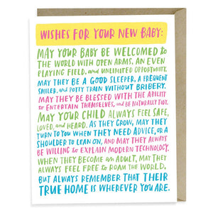 Emily McDowell & Friends - Wishes For Your New Baby Card