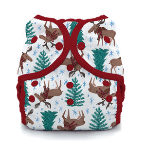 Thirsties - Size 2 Duo Wrap, Snap Closure - Merry Moose-mas