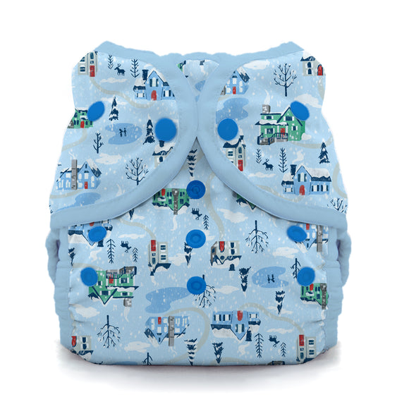 Thirsties Size 1 Duo Wrap, Snap Closure - Snow Day