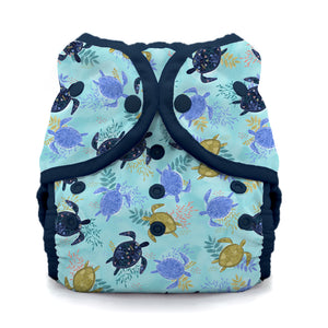 Thirsties Size 1 Duo Wrap, Snap Closure - Tortuga