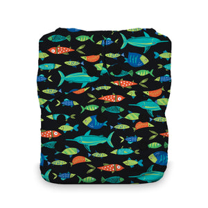 Thirsties - One Size All in One, Snap Closure - Fish Tales