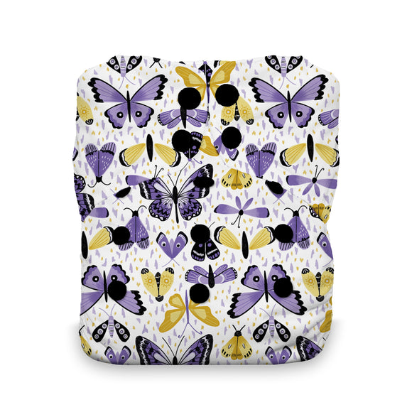 Thirsties One Size All in One, Snap Closure - Flutter By