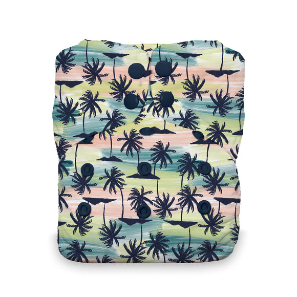 Thirsties One Size All in One, Snap Closure - Palm Paradise