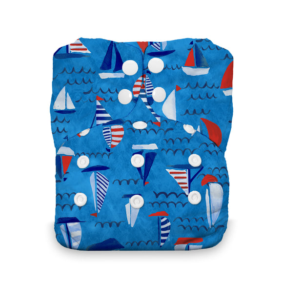 Thirsties One Size All in One, Snap Closure - Set Sail