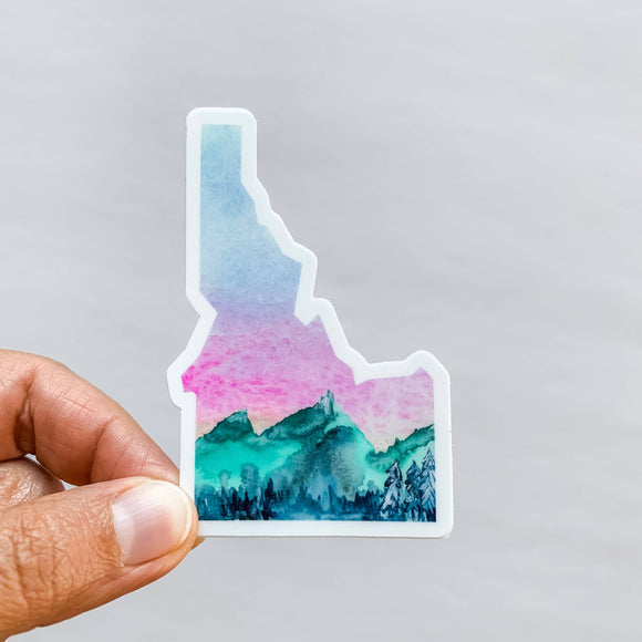 Wildflower Paper Company - Idaho Mountains State Sticker