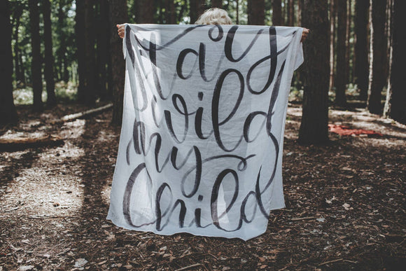 The Swaddle Company - Stay Wild  - Organic Swaddle