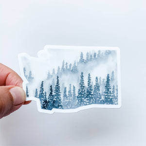 Wildflower Paper Company - Washington Forest Gray State Sticker