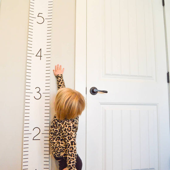 BATZkids - Numeric Canvas Wall Growth Chart