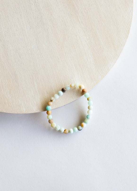 CanyonLeaf - Adult: Raw Amazonite Bracelet