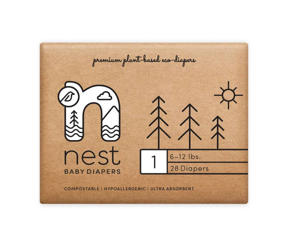 Nest Diapers - Natural Plant Based Baby Diapers
