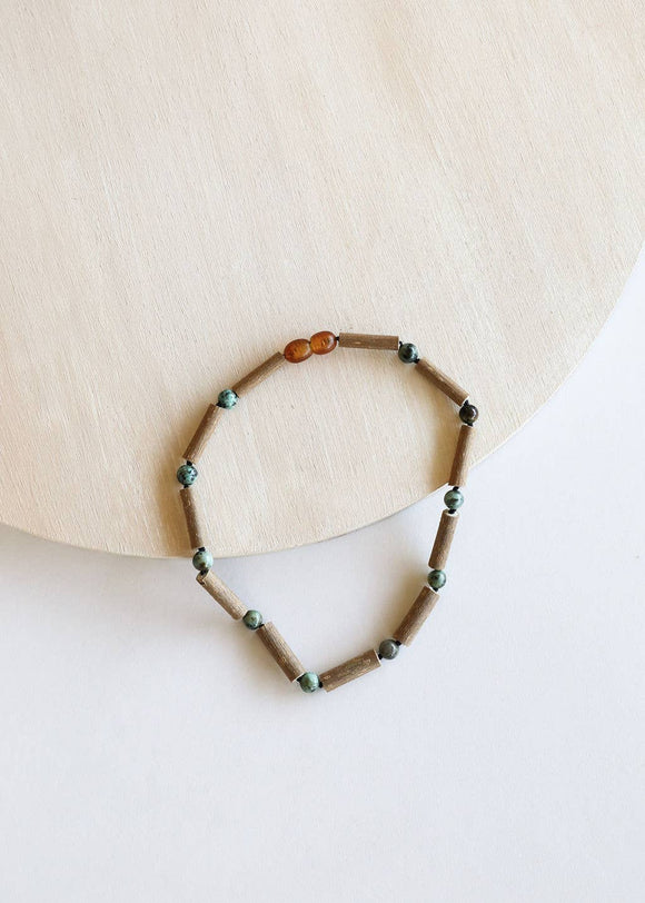 CanyonLeaf - Kids: Hazelwood + Turquoise Jasper Necklace