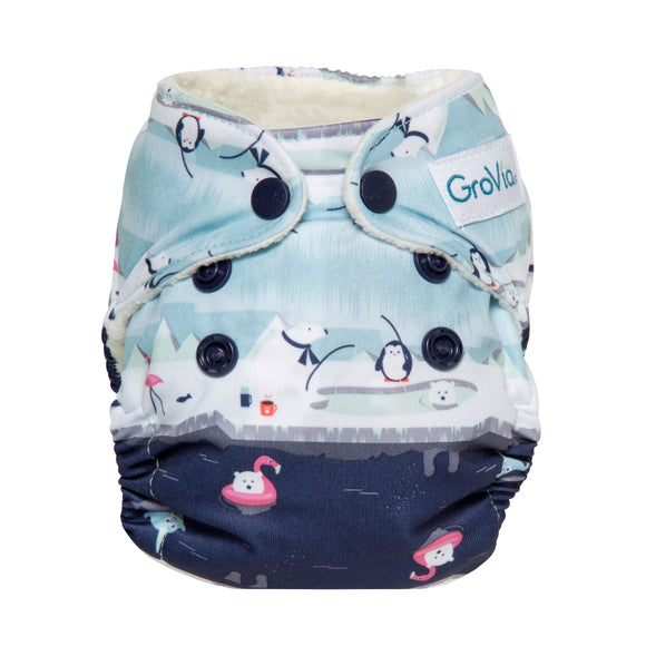 GroVia - Newborn All In One - Polar Pool Party