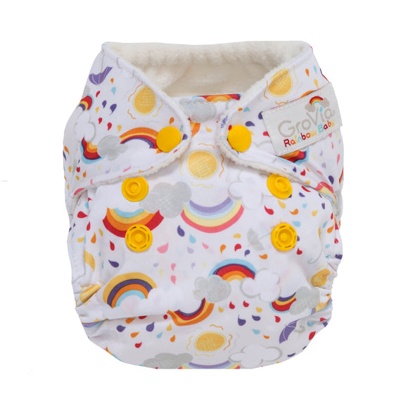 GroVia - Newborn All In One - Rainbow Baby