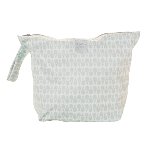 GroVia - Zippered Wetbag - Mint Ice Cream