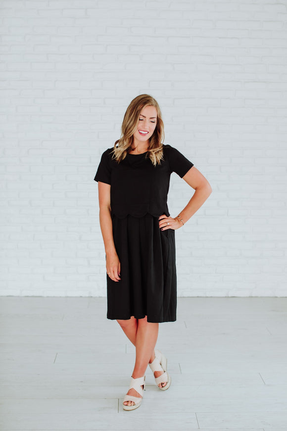 Honeysuckle - Madison Dress in Black