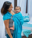 Studio Tekhni - The Sling Baby Carrier | ocean + silver
