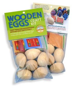 Natural Earth Paint - Wooden Eggs Craft Kit