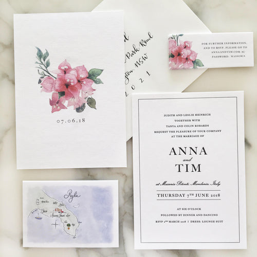 Anna + Tim Wedding Invitations