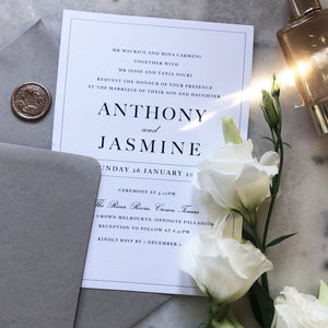 Anthony & Jasmine Wedding Invitation